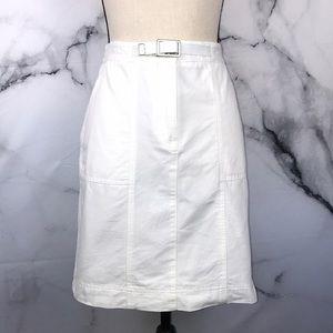 🦋RAFAELLA🦋 white 💯 cotton denim skirt